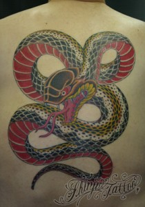 Shinji Tattoo Snake 2