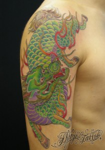 Shinji Tattooの麒麟のタトゥー画像1