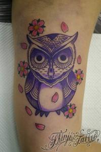 フクロウのTATTOO(刺青) 2