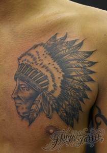 インディアンのタトゥー(ネイティブアメリカン) 1