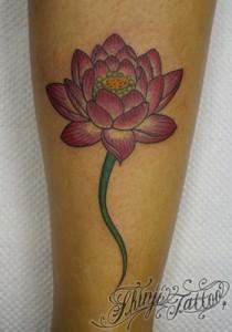 蓮の花のタトゥー Shinji Tattoo 14