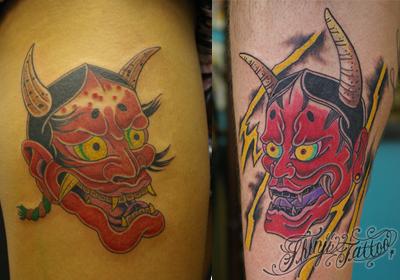 日本の伝統色、和色のタトゥー